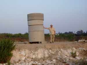 Steve Spillman at Zion's Ma'anit #1 well head in Northern Israel